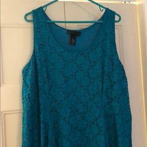 Lane Bryant lace overlay dress
